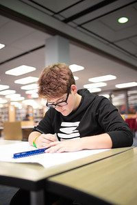 """Dawn Cooper is a freshman majoring in theater and is currently working on a drawing for """"Computer Aided Drafting and Drawing"""" at the Mary and Jeff Bell Library."""