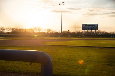 Glowing Baseball Field close