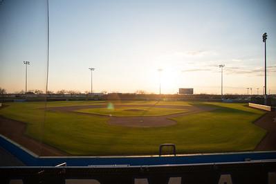 Glowing Baseball Field