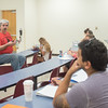 Dr. Stefan Sencerz provides examples of different behaviors during his Intro to Philosophy class.