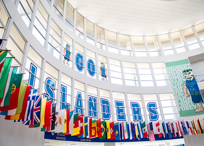 Check out all the different flags displayed in the University Center Rotunda!