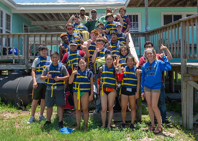 The Underwater Robotics Camp students pose with camp counselors and camp leaders at the Laguna Madre Field Station.  Check out other available summer camps for kids and teens here: http://bit.ly/2MighNt