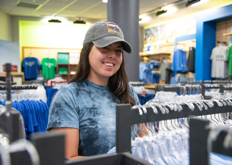 Julia Maurer stops by the Barnes & Noble Bookstore located on the first floor of the University Center to stock up on her Islander gear.  Check out our online bookstore here: http://bit.ly/2uAaDzU