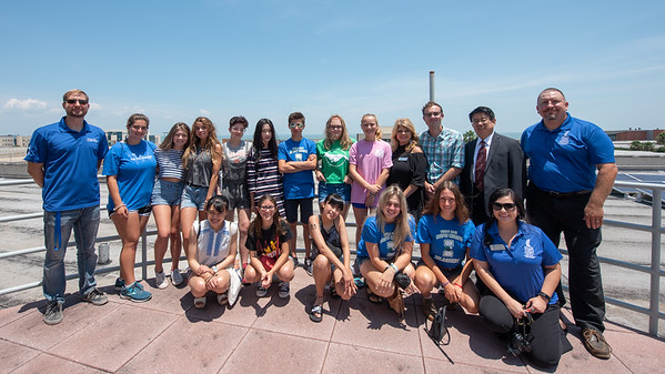 High school students from sister cities in Japan, Taiwan, and France along with high school students from Corpus Christi tour the Island University.