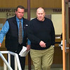 Record-Eagle/Jan-Michael Stump<br /> Joseph L.'s Soffredine, left, leaves the court clerk office with his father, Ralph Soffredine, after Joseph was arraigned on one count of drunken driving by Judge John D. Foresman in 86th District Court in Traverse City.