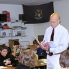 Record-Eagle/Lindsay VanHulle<br /> Mike Durbin discusses current events with his students at Traverse City West Senior High. Durbin wants to start a student exchange program with a school in the Netherlands.