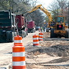 Record-Eagle/Douglas Tesner<br /> Eighth Street is closed to through traffic from Garfied Road to Woodmere Avenue. But Tim Lodge, city engineer, said all businesses are accessible either via side streets or via the single lane that crews will keep open along most of the affected area. According  to Lodge, the construction should be completed by the end of June.