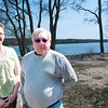Record-Eagle/Douglas Tesner<br /> Sandy Nuske and Kent Gray stand near what will become the beach at Lake Ann Beach Park. The two were instrumental in raising funds needed to match grant money.