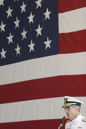 Record-Eagle file photo/Douglas Tesner<br /> Rear Adm. Peter Neffenger,  commander of the U.S. Coast Guard-s Ninth District, will complete his two-year assignment this month.