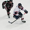 Record-Eagle/Douglas Tesner<br /> Tim Opie (9) had a goal and two assists for the Traverse City North Stars Saturday in a 5-1 win over Motor City.
