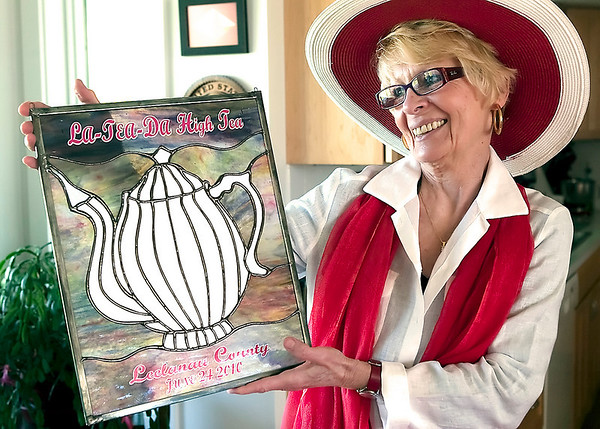 Record-Eagle/Douglas Tesner<br /> Diane Pare, who started Leelanau Cancer Fund, is co-organizing the fund's first fundraiser, the La-TEA-Da High Tea. Proceeds will benefit Leelanau County families struggling with cancer.