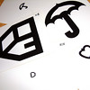Record-Eagle/Marta Hepler Drahos<br /> Eye charts for children too young to read include symbols instead of letters.