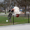 Record-Eagle/Douglas Tesner<br /> Dane Shemwell attempts to do a black flip on his bike at the Grand Traverse County Civic Centers skate park.  Shemwell, who attends Traverse City West High School, was unsuccessful in his attempt.
