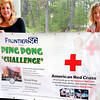 Record-Eagle/Lisa Perkins<br /> Barbi Hill and Jennifer Hennigar of Frontier Computer Corp. will host a ping pong challenge Saturday to benefit survivors of the recent earthquakes in Haiti and Chile.
