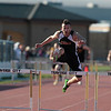 Record-Eagle/Jan-Michael Stump<br /> Kingsley's Ben Simpson swept the hurdles at Thursday's meet between Traverse City Central, Kingsley and Benzie Central.