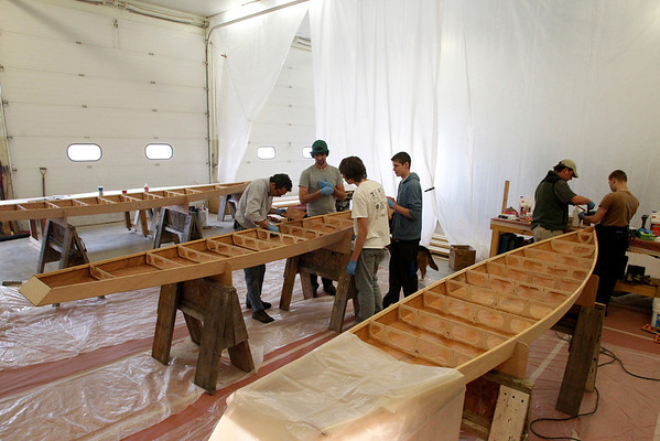 Record-Eagle/Jan-Michael Stump<br /> The Small Craft Club, a collaboration between the Maritime Heritage Association and Child and Family Services, is teaching a group how to build three touring-style stand-up paddleboards over their spring break. Funding came from donors who pre-paid for the boards, and from grants from Consumers Energy, Rotary Charities and the Grand Traverse Band of Ottawa and Chippewa Indians. The new program is an offshoot of the summertime SAIL (Success Always Involves Learning) Champion program, which provides a chance for at-risk youth to sail the Champion, the Maritime Heritage Association's 39-foot cutter, and receive therapy sessions while onboard.