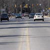 Record-Eagle/Douglas Tesner<br /> The Traverse City commission is considering a one-year test project to reconfigure traffic lanes on Eighth Street between Garfield Avenue and Munson Avenue.