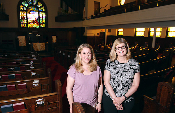 Record-Eagle/Keith King<br /> Alline Beutler, left, director of adult Christian Education at Central United Methodist Church, and Susan Norkowski are looking into helping provide immigration services through the church.