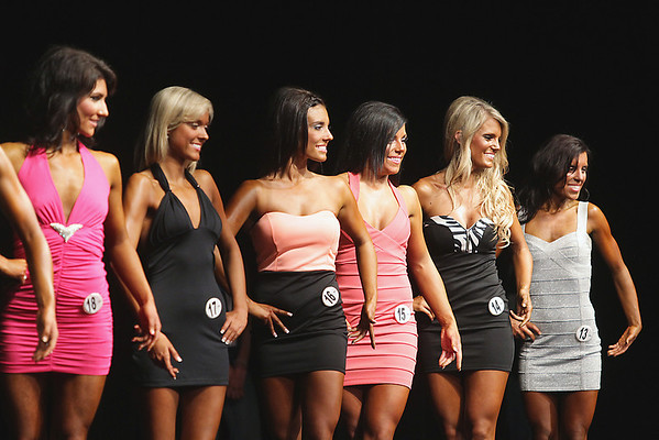 Record-Eagle/Keith King<br /> Women compete during the prejudging portion of the 32nd annual Grand Traverse Bodybuilding and Figure Championship, presented by Fit For You Health Club, at the Leelanau Sands Casino.