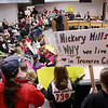 Record-Eagle/Keith King<br /> Supporters of the Hickory Hills Ski Area gather on Monday at the Governmental Center prior to the start of the city commission meeting in Traverse City.