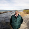 Record-Eagle/Keith King<br /> Jack Bails, at the rivermouth in West Grand Traverse Bay, will be part of a team that will help local residents create a Boardman River watershed management plan.