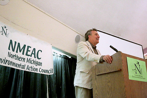 Record-Eagle/Keith King<br /> Keynote Speaker Jerry Dennis talks Friday during the Northern Michigan Environmental Action Council Environmentalist of the Year Awards.