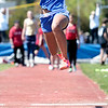 "Record-Eagle/Jan-Michael Stump<br /> Nisha Collins of Onekama won the Ken Bell long jump (16' 6-1/4"")."