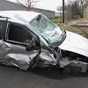 Record-Eagle/Art Bukowski<br /> Deputies said Matt Bocian crashed this van in Long Lake Township.