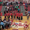 Record-Eagle/Jan-Michael Stump<br /> The Grand Entry makes its way into the gym at Suttons Bay High School, as this year's high school graduates were celebrated with a powwow Friday afternoon.