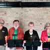 "Record-Eagle/Jan-Michael Stump<br /> ""Aged To Perfection,"" from left, Michael Nunn, Mike Kelly, Barbara Goodearl and Margaret-Anne Slawson are part of the Senior Reader's Theatre at the Old Town Playhouse Studio Theatre. The group, 55 and up, perform plays from the script."