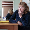 """Record-Eagle/Jan-Michael Stump<br /> """"I never though I'd be without a home at my age,"""" said Myrna Moore, seen here talking about being evicted from her Traverse City home of seven years without anywhere to go."""