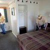 Record-Eagle/Jan-Michael Stump<br /> Elaine, left, and Terry Lucksted clean a room at the Interlochen Motel Tuesday, which is completely booked for nearby Interlochen Arts Academy's graduation weekend in late May this year because it's also the academy's 50-year reunion and concert.