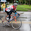 Record-Eagle/Douglas Tesner<br /> Marcus Bush takes a corner in Saturday's Cherry-Roubaix sprint race.