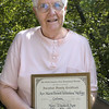 Record-Eagle/Lisa Perkins<br /> Mary Rose, of Traverse City, holds the Ancestral Family Certificate that proves her family has lived in the area since 1865.