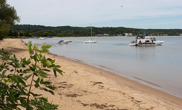 Record-Eagle/Douglas Tesner<br /> Traverse City commissioners will consider an appeal in court to challenge the state's refusal to allow city officials to expand designated swim zones on West Grand Traverse Bay, creating more boat-free areas for swimmers.
