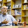 Record-Eagle/Keith King<br /> In his office at the Ida M. Tompkins Administration Building on Friday, Steve Cousins talks about his background and his new position as superintendent of Traverse City Area Public Schools.