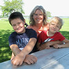 Record-Eagle/Lindsay VanHulle<br /> Dawn Hippensteel, of Traverse City, is not sure if she will vaccinate her school-age sons, Caleb, 7, left, and Hunter, 5, against the H1N1 influenza strain known as swine flu. She said she is concerned about the unfamiliarity of a new vaccine.