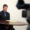 Record-Eagle photo/Jan-Michael Stump<br /> Attorney Jesse Williams held a press conference Tuesday to speak on behalf of client Joni Holbrook, who is accused of murder in the shooting death of her husband, Michigan State Police Sgt.Melvin P. Holbrook.