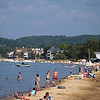 Record-Eagle photo/Jan-Michael Stump<br /> Traverse City State Park beach and other area beaches have not had any beach advisories this summer, meaning the water quality in Grand Traverse Bay's East and West Arms has been safe enough for swimming.