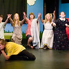 """Record-Eagle photo/Jan-Michael Stump<br /> Kelsey King (Charlie Brown) rehearses with other cast members for """"You're a Good Man, Charlie Brown,"""" by the Traverse City Children/Teen Theatre Advanced Musical Theatre Workshop at the Old Town Playhouse."""