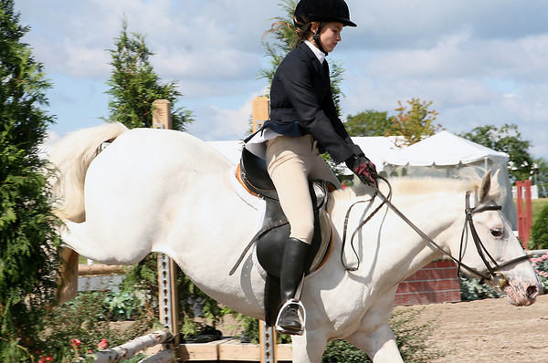 "Record-Eagle/Laura Wright<br /> ""Karli Schwark, 12, of Harbor Springs has been riding since she was in the second grade, and has been jumping with her horse, Heidi-Ho, for the past two years."""