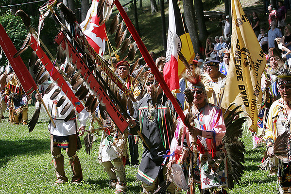 Record-Eagle file photo/Douglas Tesner<br /> The Peshawbestown Traditional Powwow.