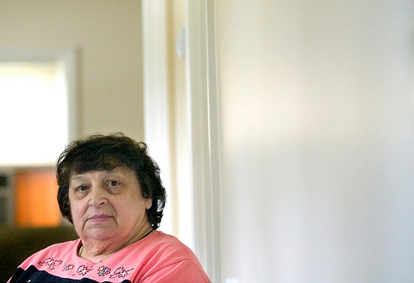 Record-Eagle photo/Jan-Michael Stump<br /> Questions raised by Tracy Miller, a Grand Traverse Commission on Aging homemaker aide, helped Betty Hubbell, seen here, avoid a phone scam.