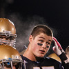 Record-Eagle/Jan-Michael Stump<br /> Traverse City St. Francis defensive end  Zach Swaffer (45) is an All-Region Captain.