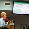 Record-Eagle/Jan-Michael Stump<br /> Michael DeVries, URS Corporation manager for traffic engineering services, presents results and recommendations from a recent survey of traffic on Eighth, Cass and Union Streets for discussion on a potential Boardman Lake Avenue during Monday's City Commission meeting.