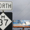 Record-Eagle/Jan-Michael Stump<br /> A Pure Michigan billboard along M-37 in Mesick, part of a winter tourism campaign kicking off in several regions.