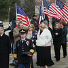 Record-Eagle/Keith King<br /> Family members leave Boyne City High School on Saturday after ceremonies for Army Pvt. Jackie Lee Diener II.