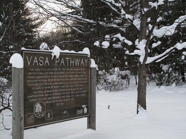 Record-Eagle/Art Bukowski<br /> The VASA trail in Grand Traverse County is one of a handful that will remain groomed this winter.