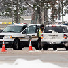 Record-Eagle/Douglas Tesner<br /> Grand Traverse County deputies block a highway after a deadly crash this week in Interlochen. Traverse City officials intend to ask county leaders for deputy road patrols in the city, or comparable compensation, since city taxpayers support the sheriff's budget.