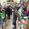 Record-Eagle/Douglas Tesner<br /> Men packed into Backcountry Outfitters for free beer and some conversation during Men's Night in downtown Traverse City, sponsored by the Downtown Traverse City Association.